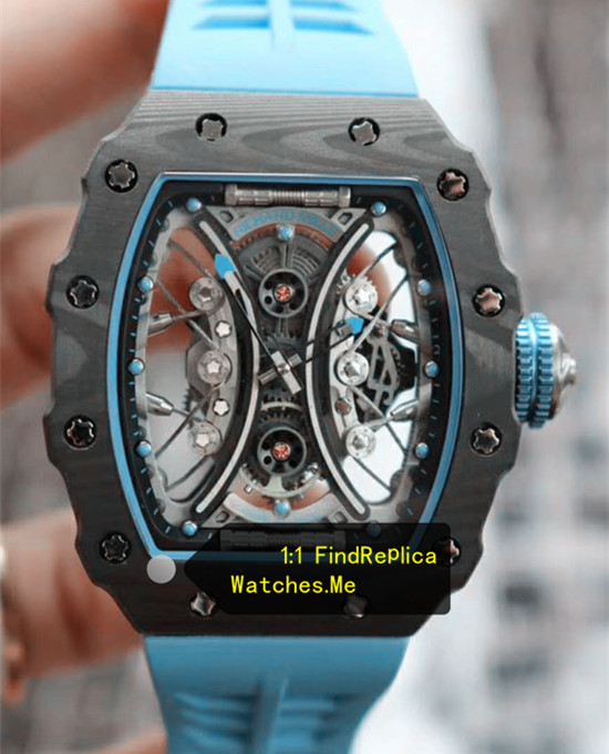 Richard Mille RM 53-01 Pablo Mac Donough Fiber Tourbillon Sky Blue Strap