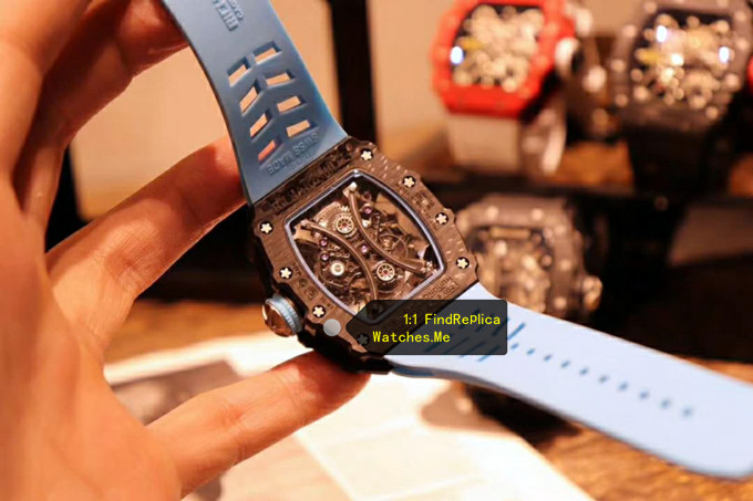 Replica Richard Mille RM 53-01 Snowflake Point Black Fiber watch hollow back
