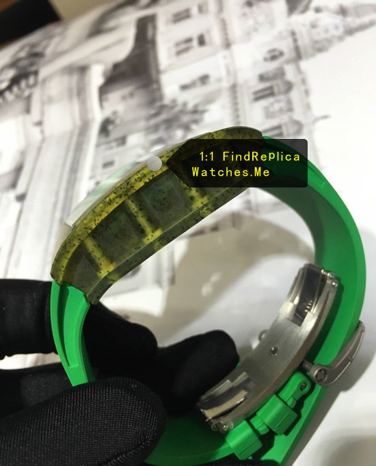Replica Richard Mille RM 59-01 Green yellow polymer Side