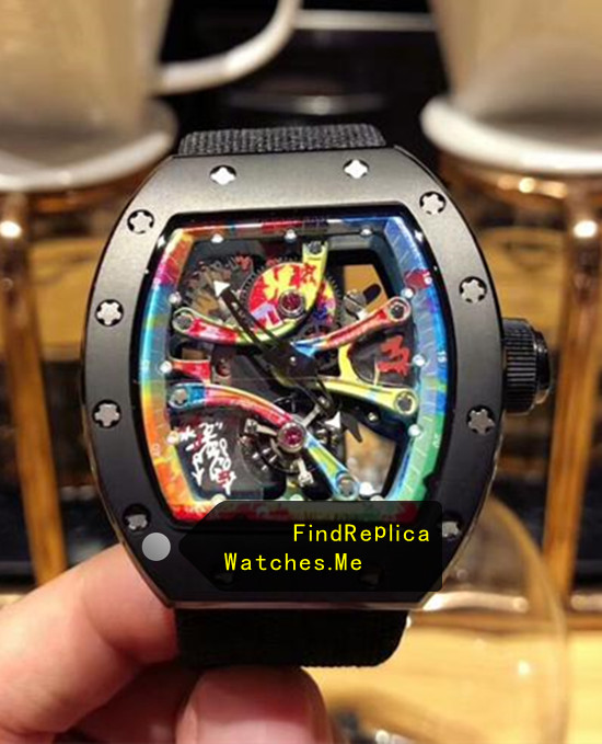 Richard Mille RM 68-01 Black Nylon Strap Watch