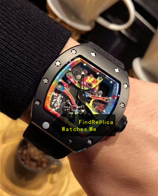 Replica Richard Mille RM 68-01 Black Nylon Strap Watch