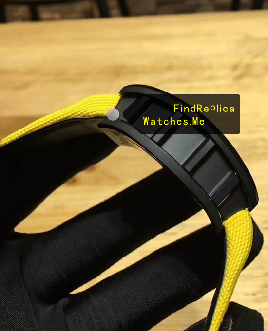 Replica Richard Mille RM 68-01 Yellow Nylon Strap Watch