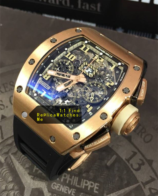 Replica Richard Mille RM 011-FM Flyback Chronograph Golden Numbers And Pointers