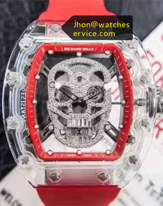 Richard Mille RM 052-Skull Transparent Replica Watch