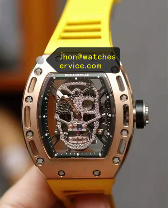 Rose Gold Richard Mille RM 052 Diamonds Skull True Tourbillon