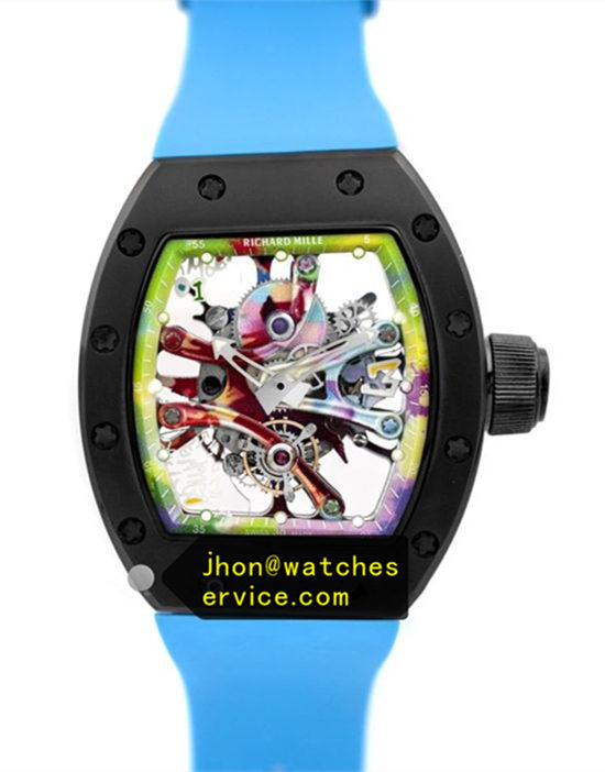 Sea Blue RM 68-01 Ceramic Bezel Graffiti