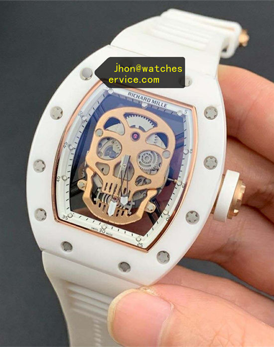 White Ceramics Richard Mille RM 52-01 Supper Hollow replica watch