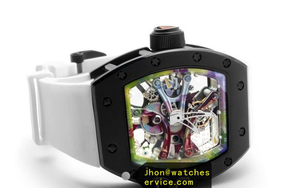 White RM 68-01 Ceramic Bezel Graffiti replica watch
