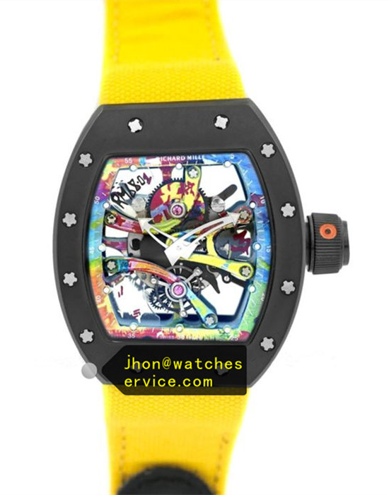Yellow Nylon Strap Richard Mille RM 68-01 Ceramic