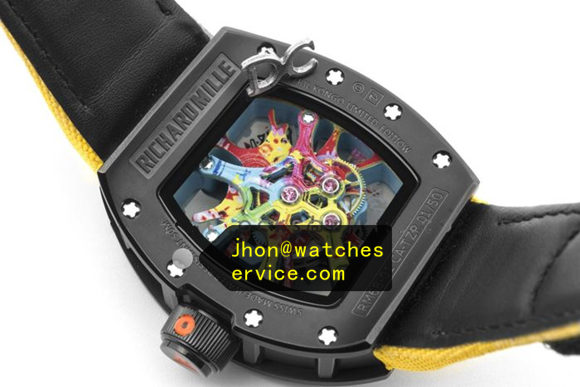 Yellow Nylon Strap Richard Mille RM 68-01 Ceramic replica watch