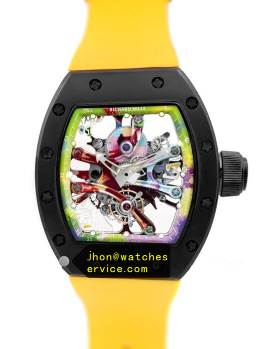 Yellow RM 68-01 Ceramic Bezel Graffiti