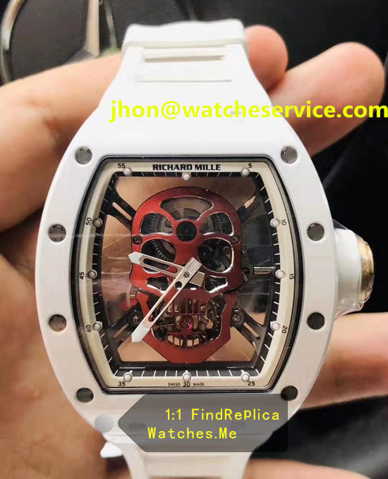 Richard Mille RM 52-01 Red Skull White Ceramic Bezel