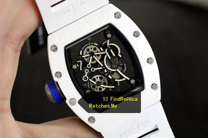 Replica Richard Mille RM 055 White Back