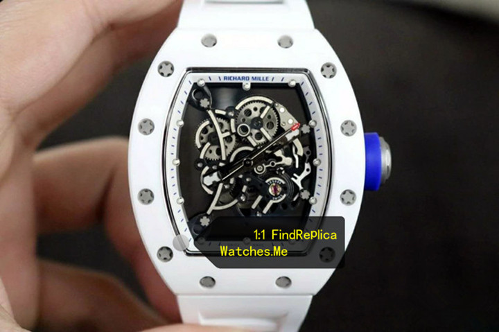 Replica Richard Mille RM 055 White Watch Detailed Image Reviews