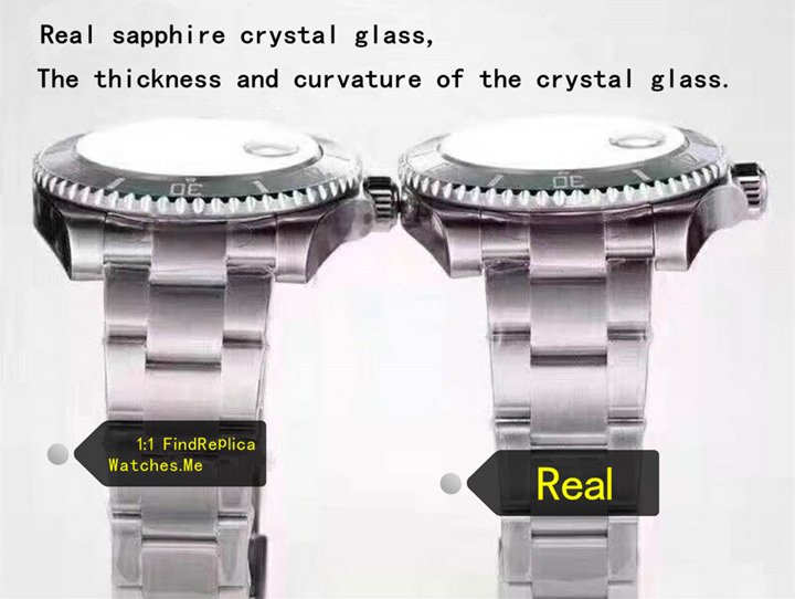 Real vs fake rolex submariner sapphire crystal