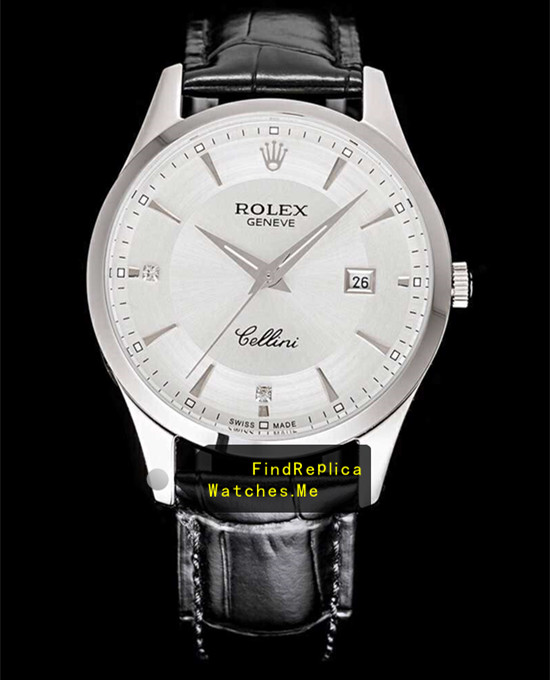 Rolex Cellini m50505 White Face With Steel Bezel
