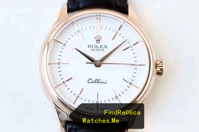 Fake Rolex Cellini 50505 39mm Diameter 18k-Gold Double Ring