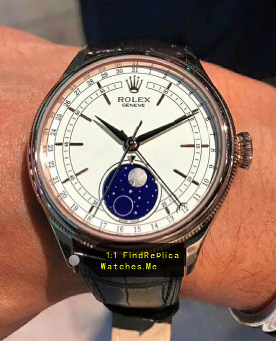 Replica Rolex Cellini m50535-0002 Blue Moon Phase Watch
