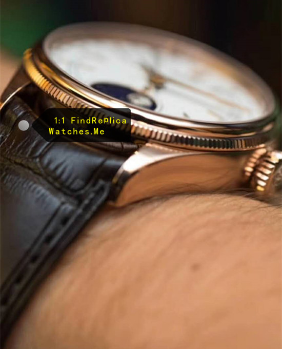 Replica Rolex Cellini m50535-0002 triangular pitted outer ring