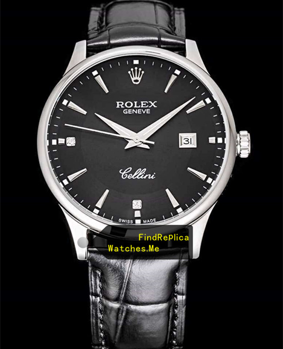Rolex Cellini m50505 Black Face With Steel Bezel