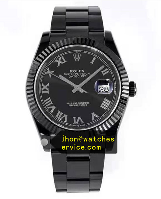 Black PVD Steel 41MM Rolex Datejust 116300-72213