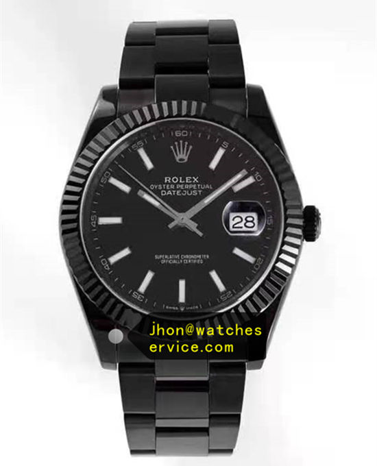 Black PVD Steel 41MM Rolex Datejust m126334