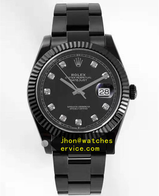 Black PVD Steel Diamond Time-Scale 41MM Rolex Datejust m126333