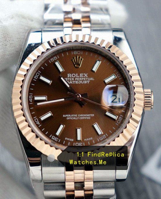Rolex Datejust 126331 41mm Chocolate Face 18k-Rose-Gold Watch