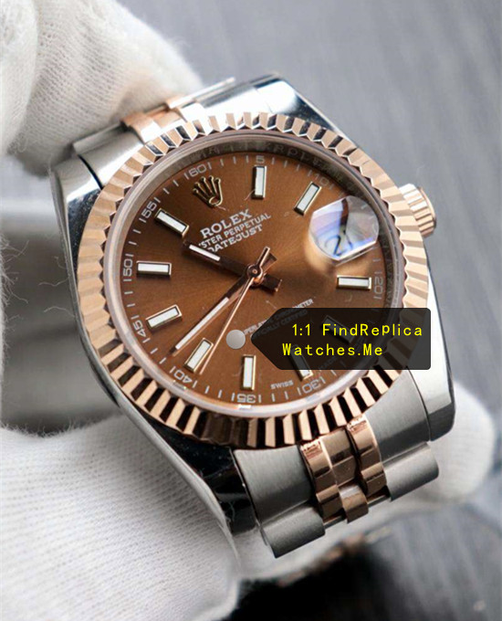 Fake Rolex Datejust 126331 41mm Chocolate Face Watch