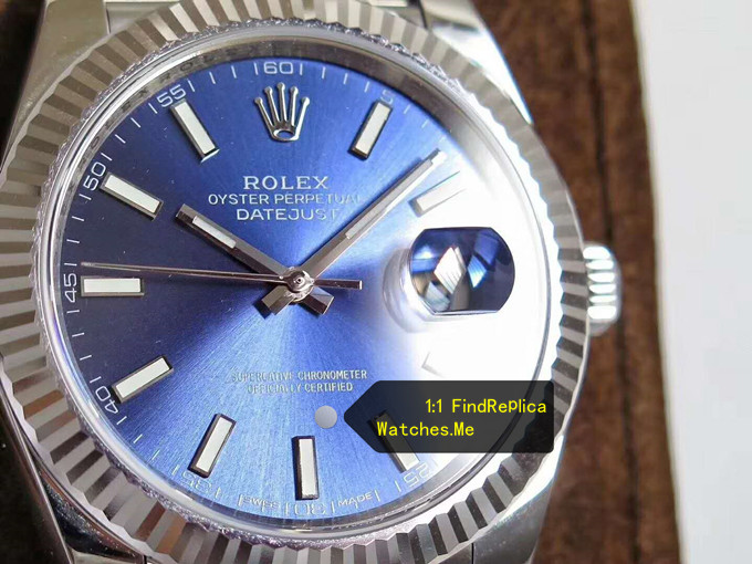 Fake Rolex Datejust 126334 41MM Blue Face