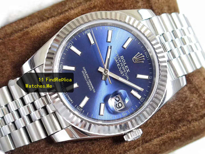 Fake Rolex Datejust 126334 41MM Blue Face Oyster Steel watch
