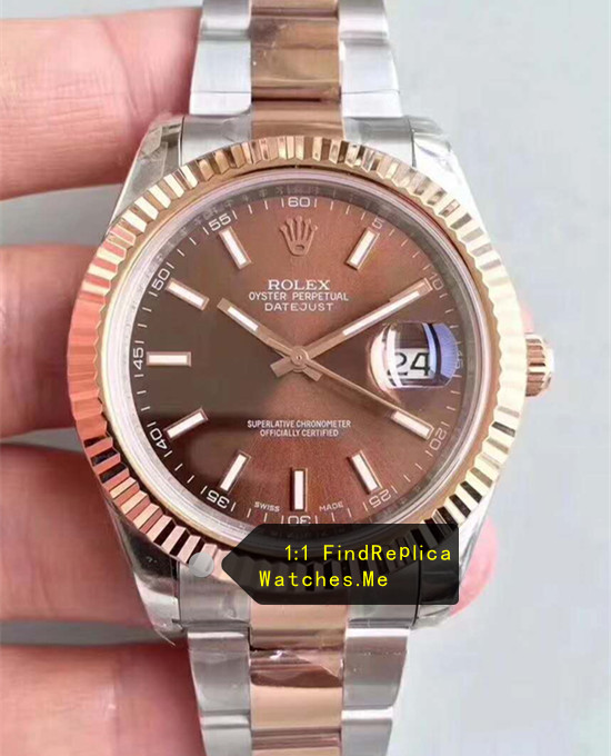 Fake Rolex Datejust m126331-0001 41mm Chocolate Face Watch