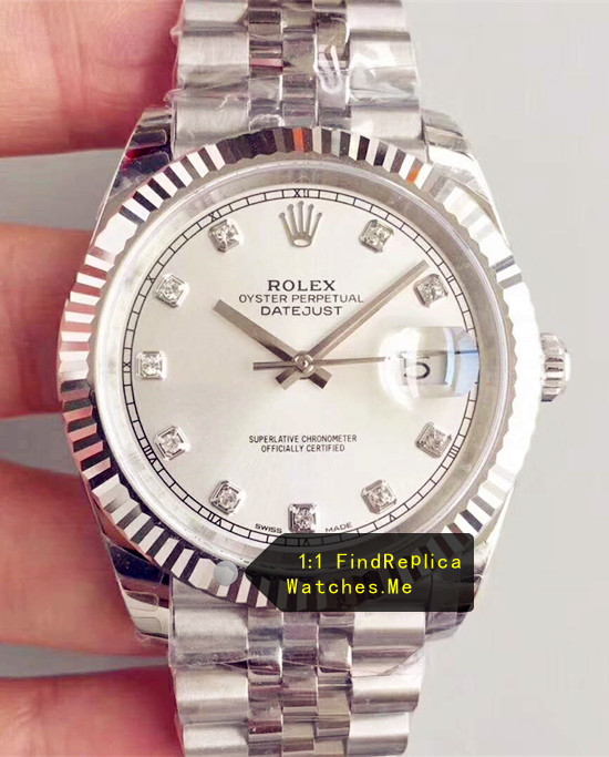 Rolex Datejust m126334 41mm White Face Steel Watch