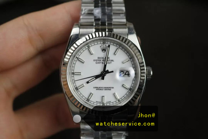 Replica Rolex Datejust 116234 36mm White Face Watch Reviews