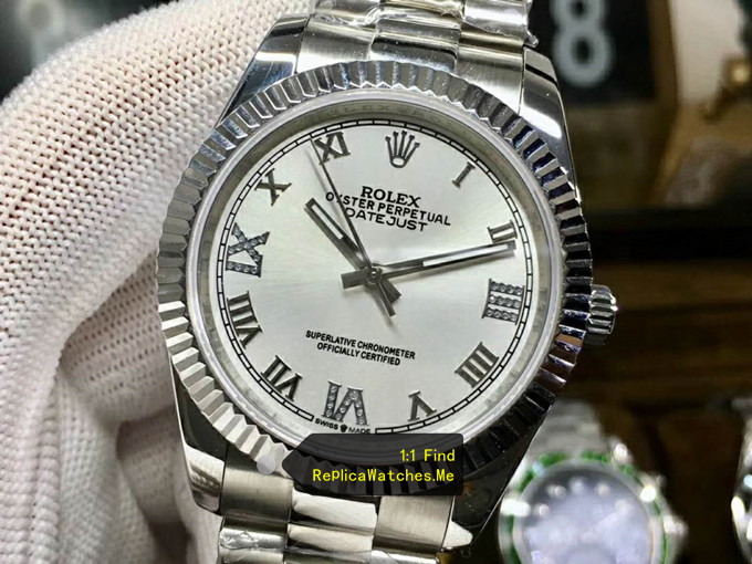 Replica Rolex Datejust 116234-63600 outer circle triangle pit pattern
