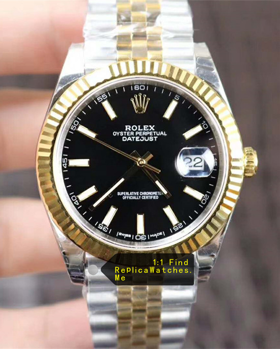 Rolex Datejust 126333 41MM Black Face Triangle Pit Outer Ring