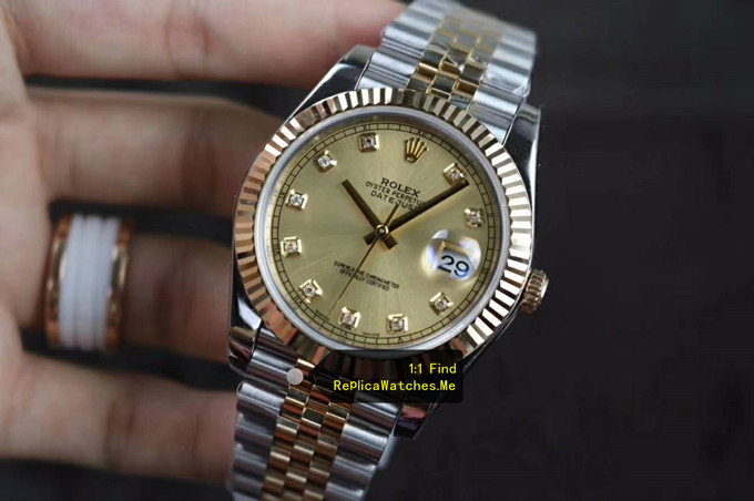 Replica Rolex Datejust 126333 41MM 18k-Gold Face