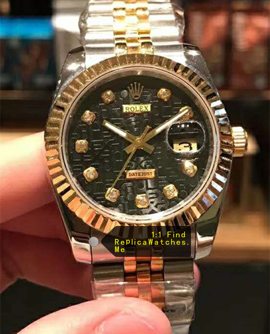 Rolex Datejust 116234-63603 36mm Size Calcium Carbide