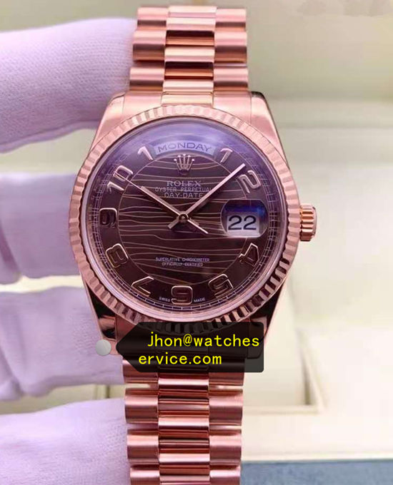 AR 41MM Rose-Gold Rolex Daydate 218235