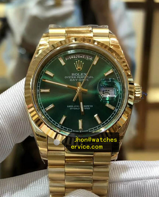 AR Green Rolex Day-Date 118238 18k-gold