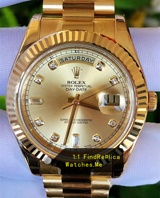 Rolex Daydate 118238A-83208 36mm Diameter 18k-Gold