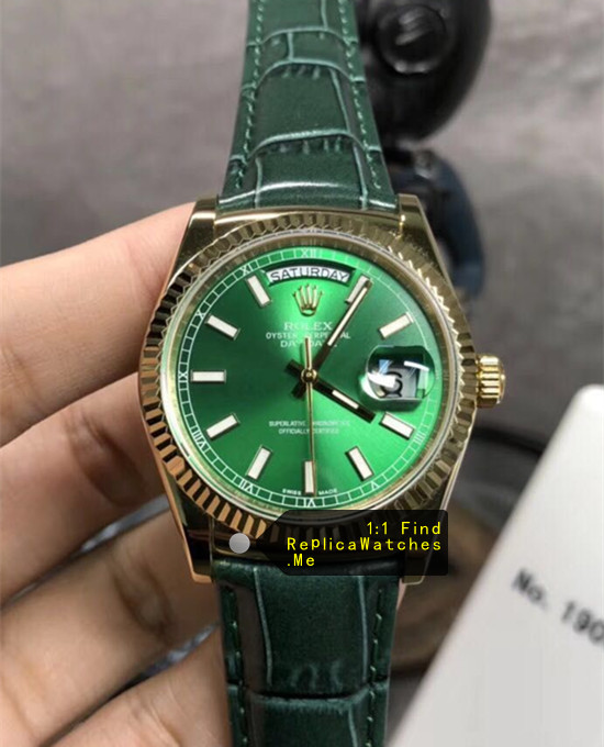 Rolex Daydate 118138-L(FC) 36mm Green Face