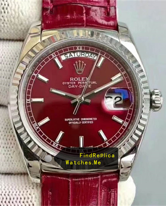 Rolex Daydate 118138-L(FC) Dark Red Face