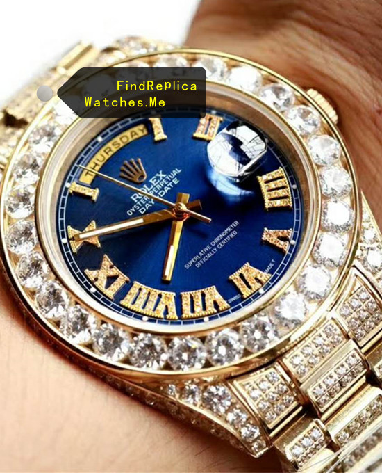 Rolex Daydate Blue Face All Diamonds