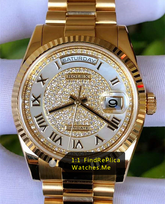 Rolex Daydate m118238-0123 36MM Diamond Watch
