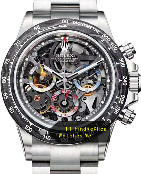 Rolex Daytona Latest Carbon Fiber Chronograph Steel Watch