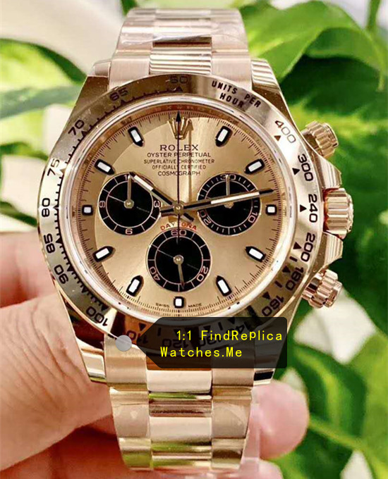 Rolex Daytona m116508-0014 18k-Gold Black Chronograph AR Factory