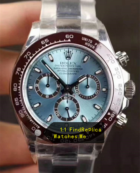Rolex Daytona 116506-78596 Ice Blue Dark Brown Ceramic Bezel