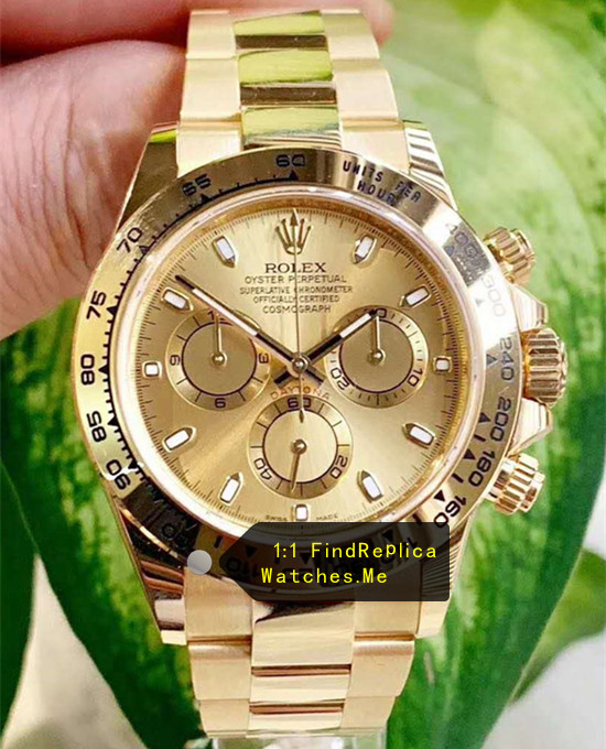 Rolex Daytona 116508 18k-Gold 40mm Watch AR Factory