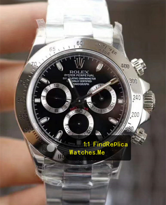 Rolex Daytona 116520-78590 904L Steel Bezel With Black Face